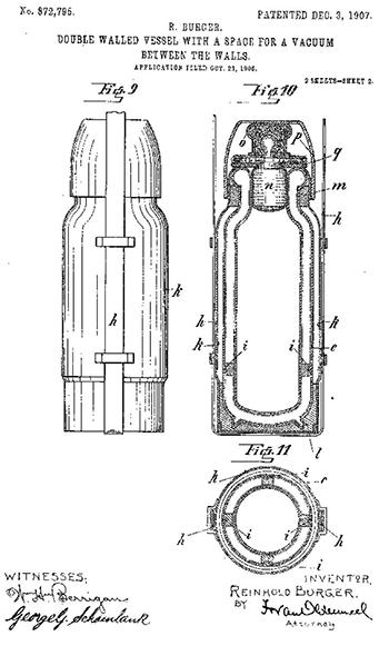 Фрагмент заявки на патент Р. Бюргера