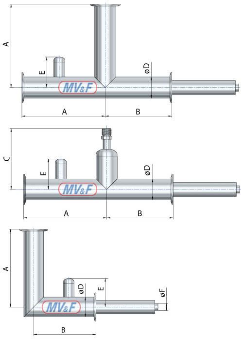 Криогенные фитинги с байонетными соединениями