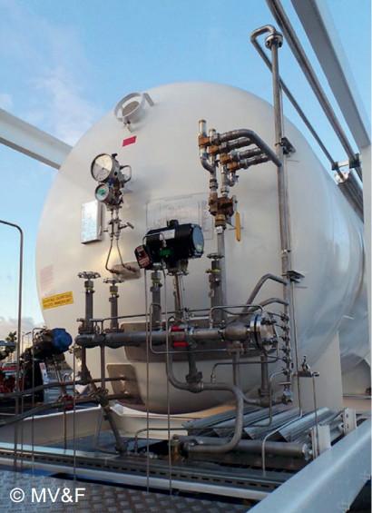 Криогенная емкость Worthington Industries в составе мобильной Крио АЗС