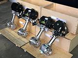 Отгрузка криогенных шаровых кранов MV&F с пневмоприводами, распрелителями и регуляторами давления воздуха